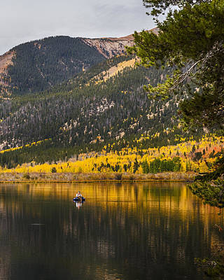 Trees Photograph - Autumn Fly Fisherman by James BO  Insogna