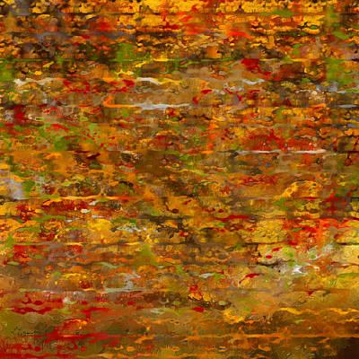 Autumn Foliage Abstract Print by Lourry Legarde