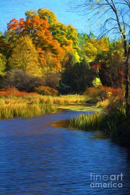 Landscape Photograph - Autumn Foliage At Christie Lake by Barbara McMahon