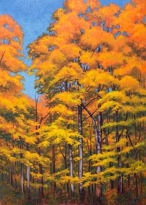 Nature Center Painting - Autumn Forest 1 by Fiona Craig