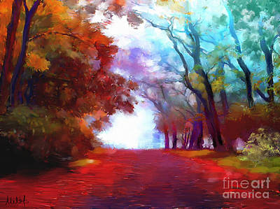Autumn Forest Original by Melanie D