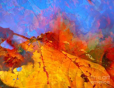 Niagra Falls Digital Art - Autumn Fusion 1 by Jeff Breiman