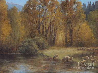 Painting - Autumn Grazing by Lori McNee