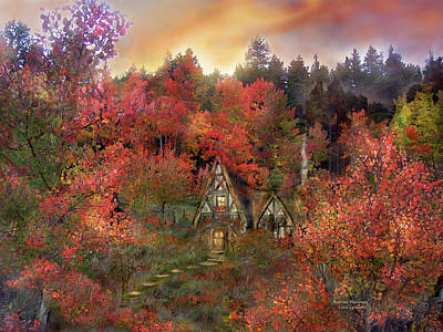 Autumn Scenes Mixed Media - Autumn Hideaway by Carol Cavalaris