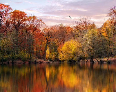 Lakes Digital Art - Autumn Impressions  by Jessica Jenney