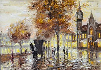 Berlin Germany Painting - Autumn In Berlin by Topchiy