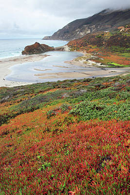 Autumn In Big Sur California Print by Pierre Leclerc Photography