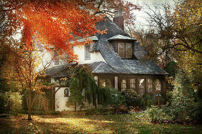 House Photograph - Autumn - In Every Fairy Tale by Mike Savad
