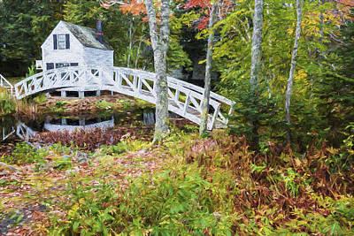 Otter Digital Art - Autumn In Maine by Jon Glaser