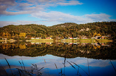 Mandal Photograph - Autumn In Norway by Mirra Photography