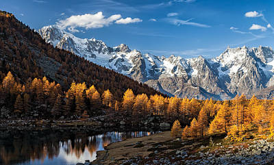 Autumn In The Alps Print by Alfredo Costanzo