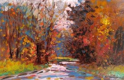Autumn In The Forest Print by Biagio Chiesi