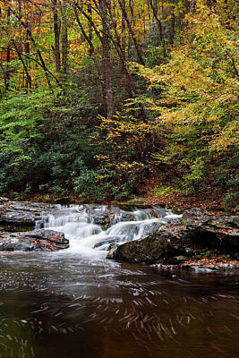 Autumn In The Smokies Print by Andrew Soundarajan