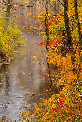 Of Autumn Photograph - Autumn In Trumbull by Karol Livote