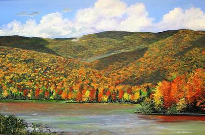 Painting - Autumn Lake by Ken Ahlering