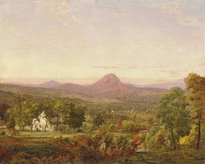 Autumn Painting - Autumn Landscape Sugar Loaf Mountain by Francis Cropsey