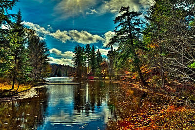 Boathouses Photograph - Autumn Leaves On The Stream by David Patterson
