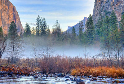 Yosemite Photograph - Autumn Mist Across The Merced by Lynn Bauer