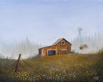 Autumn Mist Print by C Steele