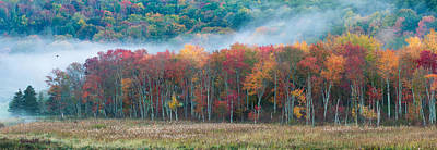 Connecticut Photograph - Autumn Morning Mist by Brian Caldwell