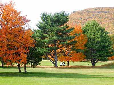 Autumn Mountain Golf Course 3 Print by Lanjee Chee