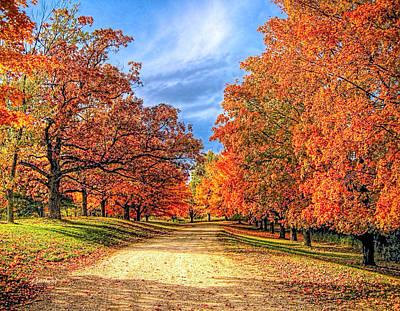 Canoe Mixed Media - Autumn Moves In by Garland Johnson