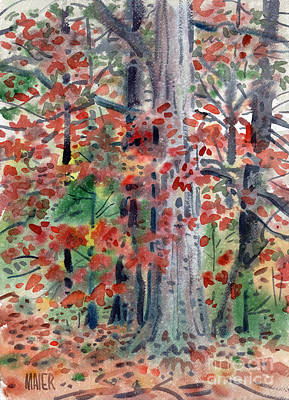 Foliage Painting - Autumn Oak by Donald Maier