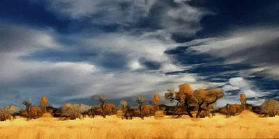 Painting - Autumn On The Edge Of The Great Plains  by David Dehner