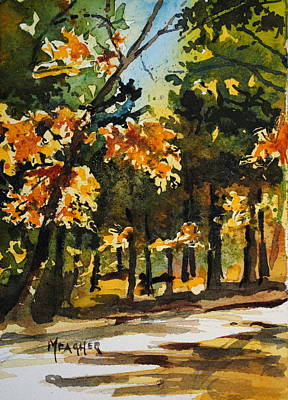 Tn Painting - Autumn On The Natchez Trace by Spencer Meagher