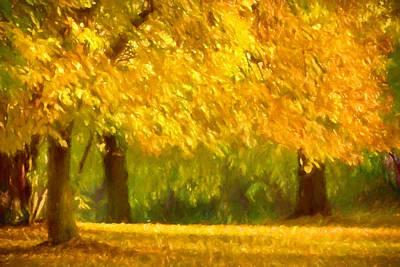 Autumn Park Print by Impressionist Art