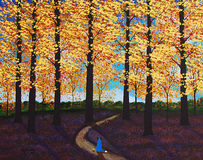 Blue Healer Painting - Autumn Path by Todd Young
