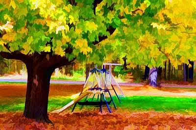 Autumn Playground 1 Print by Lanjee Chee