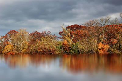 Autumn Pond Reflections Print by Jessica Jenney