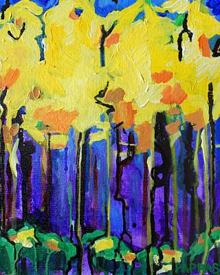 Drips Painting - Autumn Rain by Julia Pappas