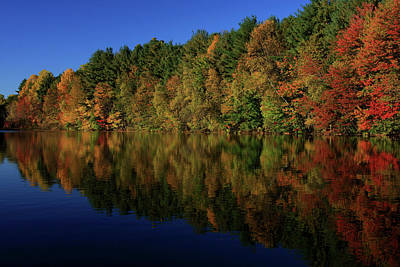 Waterview Photograph - Autumn Reflection Of Colors by Karol Livote