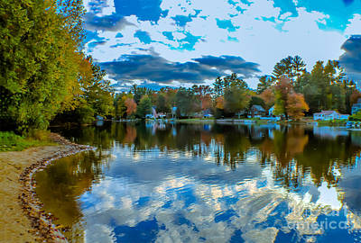 Autumn Photograph - Autumn Reflections 1 by Claudia M Photography