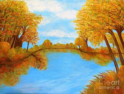 Knife Painting - Autumn Reflections by Eloise Schneider