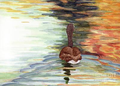 Autumn Reflections Print by Melanie Pruitt