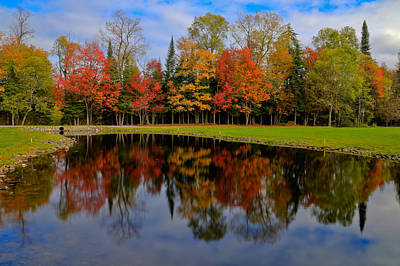 The Link Photograph - Autumn Reflections On The Golf Course by David Patterson