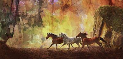 Autumn Run Original by Melinda Hughes-Berland