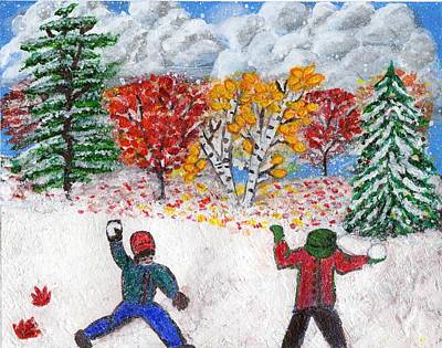 Autumn Snow Print by Lisa Hinshaw