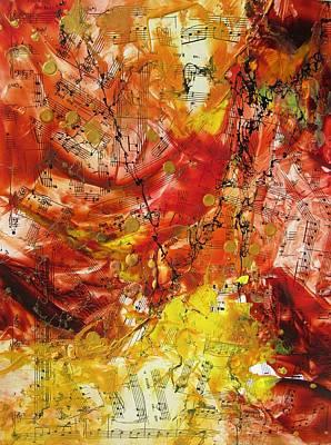 Encaustic Painting - Autumn Sonata by Louise Adams