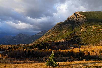 Nature Photograph - Autumn Storm At Waterton Lakes by Larry Ricker