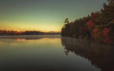 New Hampshire Autumn Photograph - Autumn Sunrise by Chris Fletcher