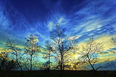 Manipulation Photograph - Autumn Sunset by Bill Caldwell -        ABeautifulSky Photography