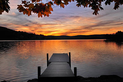 Kent Connecticut Photograph - Autumn Sunset by Thomas Schoeller