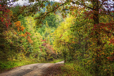 Smokey Mountain Drive Photograph - Autumn Tour by Debra and Dave Vanderlaan
