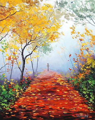 Autumn Trail Print by Graham Gercken