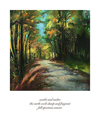 Artrage Painting - Autumn Trail by Michael Brennan