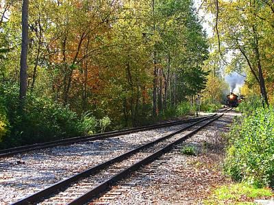 Hovind Photograph - Autumn Train by Scott Hovind